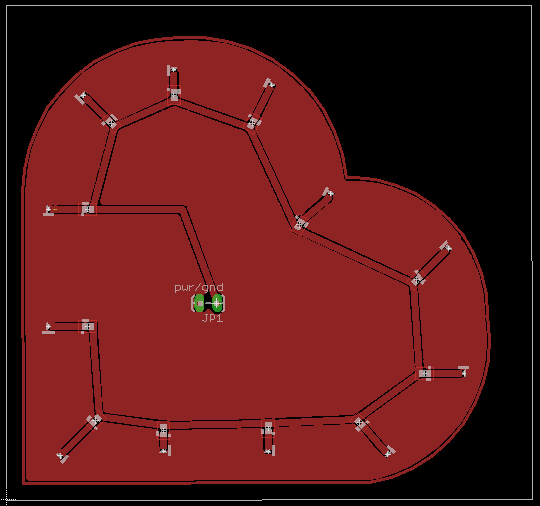 Heart shaped LED circuit and Looking through microscope